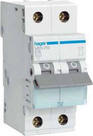 Автоматические выключатели двухполюсные Hager