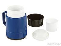 Пищевой термос со стеклянной колбой Emsa THERMO LUNCH 0,5л чёрный/синий (EM609507400)