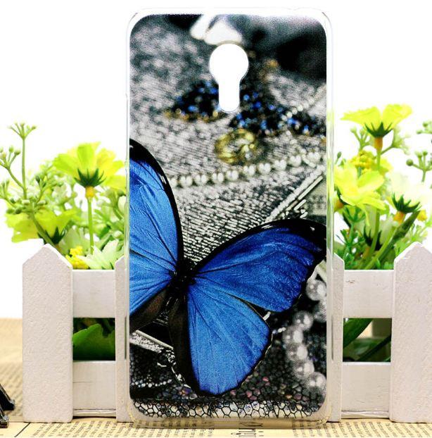 Силиконовый чехол накладка для Meizu Pro 6 с картинкой бабочка