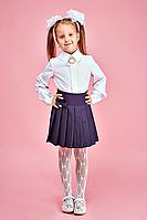 Классическая белая школьная блуза