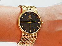 Наручные часы Rolex чёрные на золотом браслете
