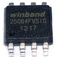 Микросхема Winbond W25Q64FVSIG, 25Q64FVSIG