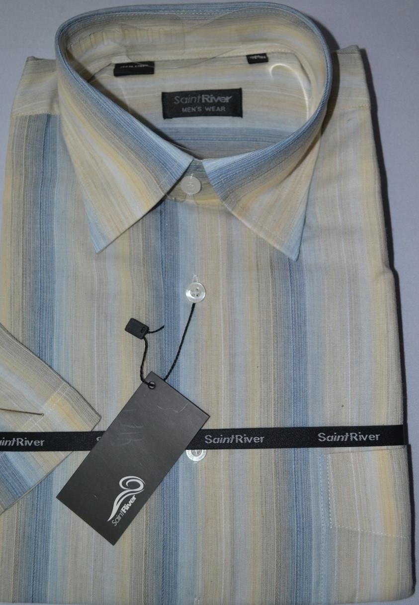 Рубашка с коротким рукавом 100% лен  (40 размер)
