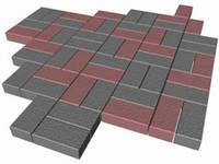 """Тротуарная плитка для дорожек """"Кирпичик"""" 100*200*40 мм."""