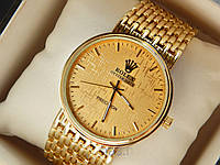 Наручные часы Rolex золотые на золотом браслете