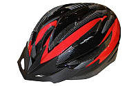 Велошлем кросс-кантри с механизмом регулировки ZEL HB13-R (р-р М-55-58, L-58-61, черный-красный)