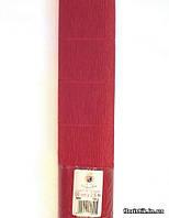 Бумага гофрированная, 589 насыщенно-красная