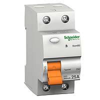 Дифференциальный выключатель нагрузки Schneider Electric ВД63, 25A, 2P, 300 mA