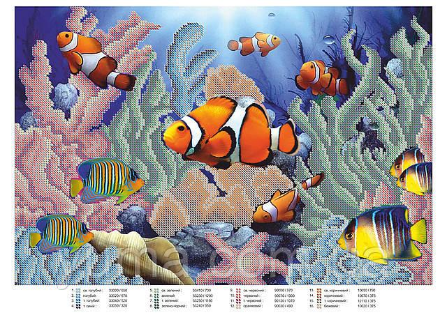 Схема для вышивки бисером Рыбки