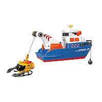 """Игрушечные машинки и техника «Dickie Toys» (3308361) исследовательская лодка с батискафом """"Explorer Boat"""", 33 см"""