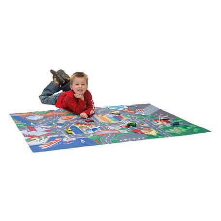 Игрушечные машинки и техника «Dickie Toys» (3315981) игровой коврик  с машинкой и знаками дорожного движения, 100х140 см, фото 2