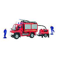 Игрушечные машинки и техника «Dickie Toys» (3826000) пожарный автомобиль с прицепной бочкой для воды и фигурками людей, 34 см