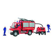 Пожарный автомобиль с прицепной бочкой для воды и фигурками людей, 34 см «Dickie Toys» (3826000)