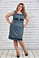 Женское Платье в клетку 0306-1 (42-74)