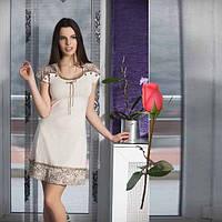 Трикотажное домашнее платье Турецкий трикотаж  Т 774295