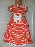 Платье с бантом коттон, р.92,98,104
