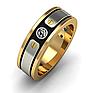 Мужское кольцо BARAKA (Барака) с позолотой и черной эмалью, фото 4