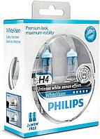 Галогенные лампы Philips White Vision H4 12V (12342WHVSM)