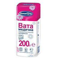 """Вата медицинская гигиеническая, нестер., """"зиг-заг"""", 200г"""