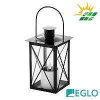 """Стальной садово-парковый светильник-фонарь """"Свечка"""" Eglo LED Solar на солнечной батарее, IP44"""