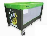 Манеж-кровать Baby Mix HR-8052-135, зеленый
