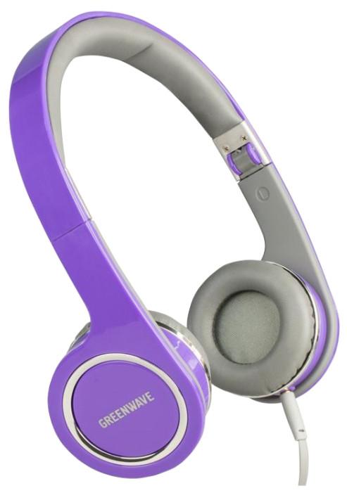 Навушники GREENWAVE HQ-355M, фіолетовий-сірий