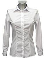 Рубашка классическая женская с длинным рукавом