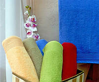 "Полотенце (70х140 см) махровое банное ""Terry Lux 400"",  Разные цвета!"