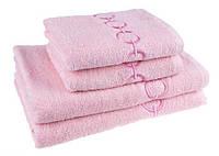 """Полотенце (70х140 см) махровое """"Браслет"""", розовое"""