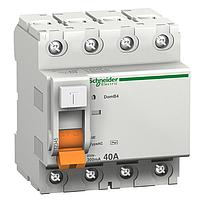 Дифференциальный выключатель нагрузки Schneider Electric ВД63, 40A, 4P, 100 mA