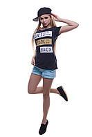 Модная женская футболка. Don't look back