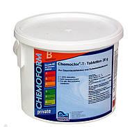 Хлор длительного действия Chemochlor-T-Tabletten (табл. 20 г), 5 кг