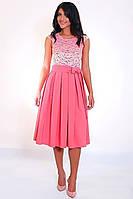 Легкое платье со вставкой гипюра, фото 1