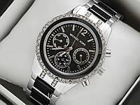 Часы Mihael Kors черные с серебром