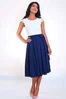 Эфэктное платье белый верх синий низ, фото 1