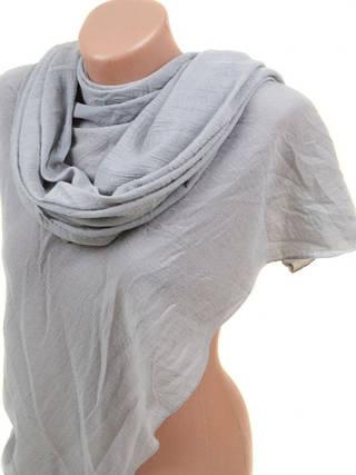Однотонный хлопковый шарф размером 180*85 см Подиум 3410 E (серый)