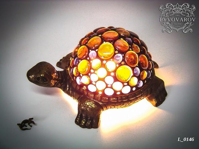 Лампа Тиффани Черепашка