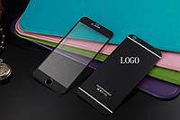 Защитное Стекло (металл) Apple iPhone 6/6S на две стороны Infinity Metal черный