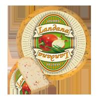"Сыр «LANDANA» HERBS  ""помидор, чеснок, базилик, лук"""