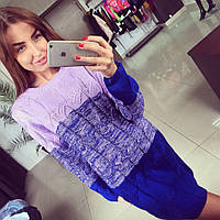 Модный свитер-туника омбре косы 4 цвета