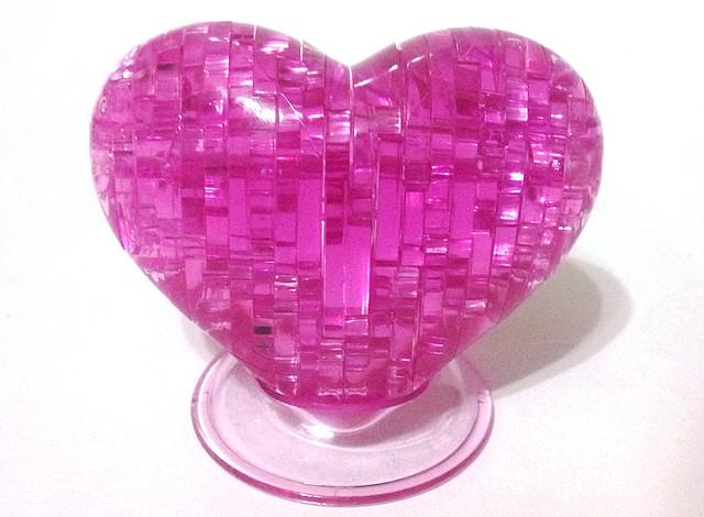 "Кристаллический пазл 3D ""Сердце"" сиреневое, розовое"