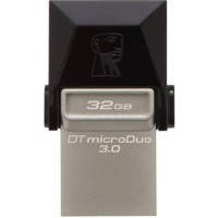 Флеш память 32GB USB3.0 + microUSB OTG Kingston DataTraveler microDuo Black (DTDUO3/32GB)