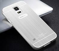 Бампер для Samsung Galaxy S7 Edge G935 металл с акриловою вставкою Msvii Серебряный
