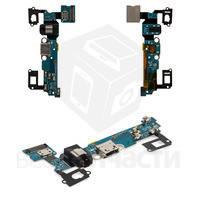 Шлейф Samsung Galaxy A700/A700F/A700H с конектором зарядки, Коннектор навушників, Микрофон с компонен