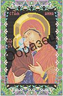 """Схема для вышивки бисером """"Святая праматерь Анна и Пресвятая Богородица"""""""