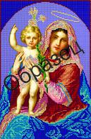 "Схема для вышивки бисером ""Ханс Зацка Мадонна с младенцем"""