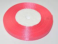 Розовая атласная лента 7мм 23м