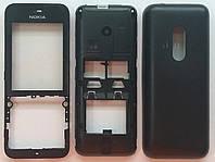 Корпус High Copy к мобильному телефону Nokia 220 Dual Sim, full, чёрный