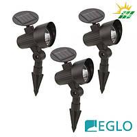 Комплект грунтовых ландшафтных прожекторов Eglo LED Solar на солнечной батарее IP44