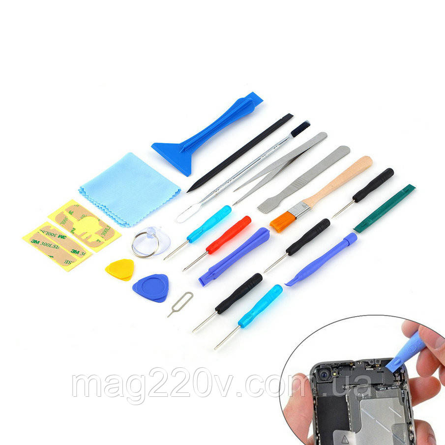Инструмент для ремонта телефонов, планшетов 21 позиции